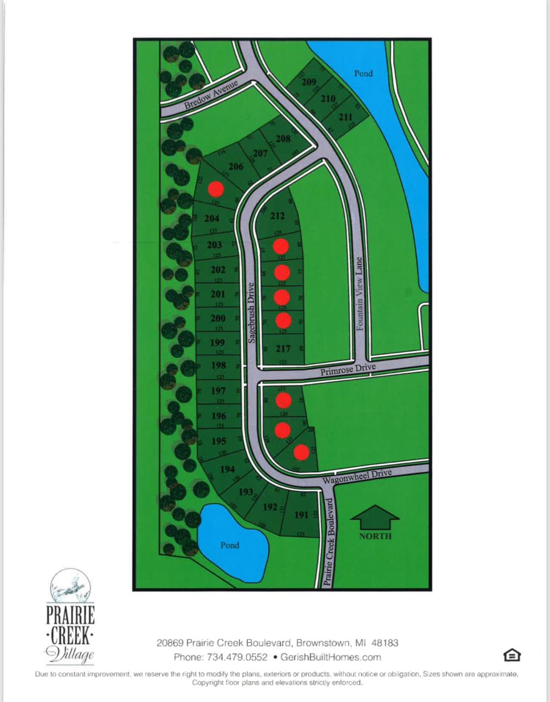 Prairie Creek Village map