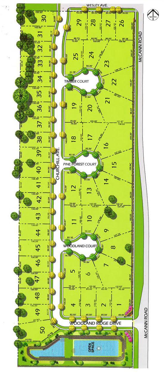 woodland ridge site plan